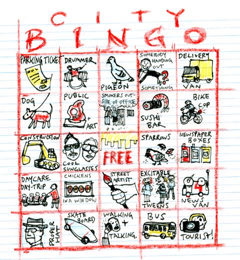 Travel Bingo For The City Swizzle Studio