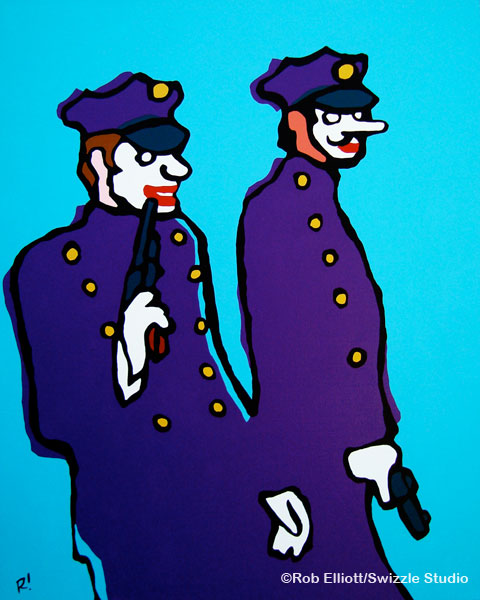 "Henchmen, acrylic on canvas, 24""x30"""