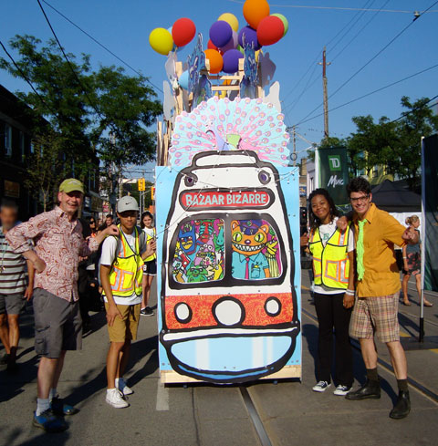 Andrew and Rob with Festival of South Asia volunteer streetcar pushers.